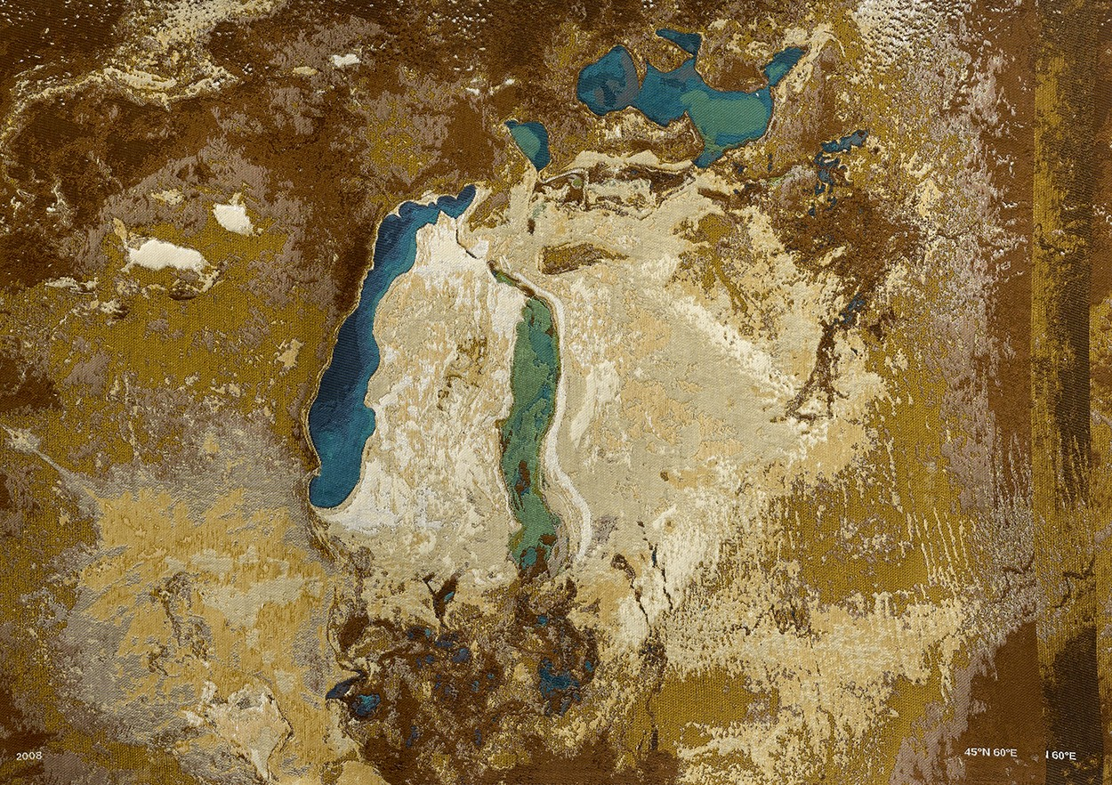 'Aral Sea tapestry: sea-cotton-image' (detail)