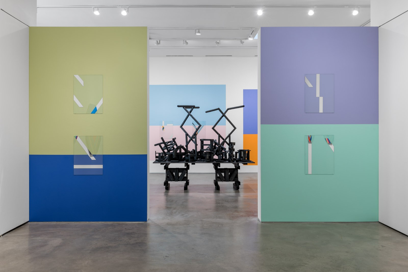 Installation view. Murals 'Houston Color Space Initiatives 3 and 4'