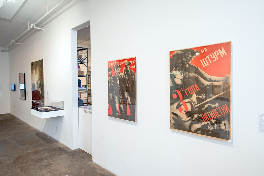 Installation view at IPCNY. Posters by Gustav Klucis